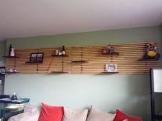 Ikea Mandal Bett Kopfteil Umbauen Wohnzimmer Wandregale Anleitung Raumteiler Trennwand Luftig Holzlatten  | Wand | Pinterest