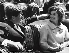 Ok, this picture of JFK and Jackie is just adorable... apparently it was one of her favorites, and I can see why.