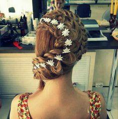 Daisy chain hair braid