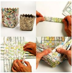 paper baskets diy