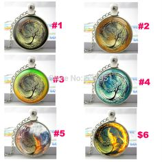 Free Shipping Zodiac gift Divergent Inspired  Brown Yellow Black Blue Red Background Glass Pendant Necklace photo glass cabochon-in Pendant Necklaces from Jewelry on Aliexpress.com