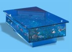 custom coffee table aquarium. totally awesome and i could totally