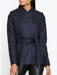 REISS Franklin Belted Wool Coat - NEW IN! The School Run, Reiss, Wool Coat, Hooded Jacket, Branding Design, Coats, Women, Fashion, Jacket With Hoodie