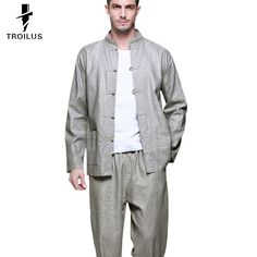 Find More Casual Shirts Information about Troilus Chinese Style Retro Line Men's Kung Fu Shirt Tops Full Sleeve Tang Suit Shirts Traditional Casual Social Design Clothing,High Quality Casual Shirts from Troilus Flagship Store on Aliexpress.com