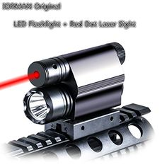 IORMAN Original Tactical Optics Red Dot Laser Sight 200LM LED Light Flashlight with PicatinnyWeaver Rail -- Click image for more details.
