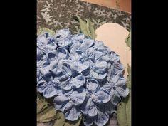 (21) Рельефная живопись декоративной штукатуркой. Букетик с гортензией. Часть 2. Работа штукатуркой - YouTube