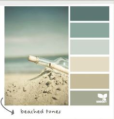 My dream palette! Perfect Coastal and Beach Decor: Coastal Decor Color Palette - Beached Tones Design Seeds, Colour Schemes, Color Combos, Colour Palettes, Coastal Color Palettes, Paint Palettes, Colour Chart, Wall Colors, House Colors
