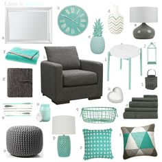 Color-Combo. Mint-Grey. Living-Room. by theartbug-home on Polyvore ...