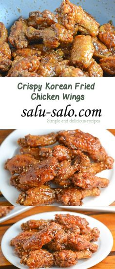 Crispy Korean Fried Chicken Wings - My list of the most healthy food recipes Frango Chicken, Fingers Food, Korean Fried Chicken, Asian Chicken Wings, Crispy Fried Chicken Wings, Japanese Chicken, Fried Chicken Recipe Filipino, Best Chicken Wings Recipe Fried, Korean Bbq Wings Recipe