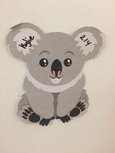 A door dec my resident made me because I told her I wouldn't make koala door…