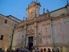 Secodary facade of the Duomo of Lecce (Italy).  Visit the website for other pictures!