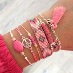 Beads-bracelet 'Boho Dreams' - Mint15