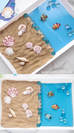 "Sand Playdough Recipe - try this fun summer activity for kids and make your own sand playdough! Click the ""..."" to get to the full recipe. A fun cross between play sand, playdough and kinetic sand!"