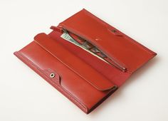 ALL LEATHER GEOLOGY LONG CARD & COIN WALLET   POSTALCO