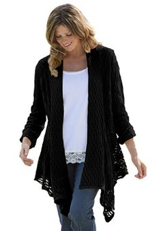 Plus Size Cardigan sweater, open front | Plus Size sweaters | Woman Within