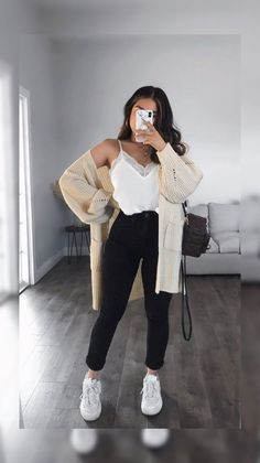 Trendy Fall Outfits, Winter Fashion Outfits, Retro Outfits, Cute Casual Outfits, Simple Outfits, Look Fashion, Stylish Outfits, Girl Outfits, Fashion Clothes