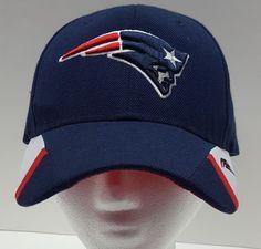 NFL New England Patriots Hat Cap Blue Strapback One Size  Embroidered Logo #NFL #NewEnglandPatriots