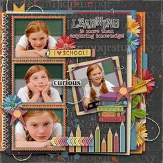 School Daze ⊱✿-✿⊰ Follow the Scrapbook Pages board & visit GrannyEnchanted.Com for thousands of digital scrapbook freebies. ⊱✿-✿⊰