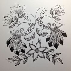 Grand Sewing Embroidery Designs At Home Ideas. Beauteous Finished Sewing Embroidery Designs At Home Ideas. Peacock Drawing, Peacock Painting, Peacock Art, Fabric Painting, Peacock Design, Bordado Jacobean, Fabric Paint Designs, Madhubani Art, Indian Folk Art