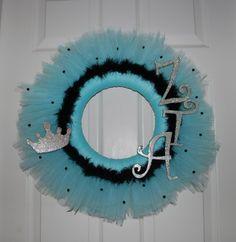 Zeta Tau Alpha Tulle Wreath