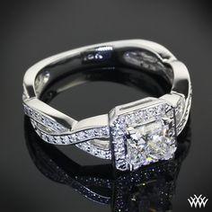 Diamond Braid Diamond Engagement Ring with 0.961 Expert Selection Princess
