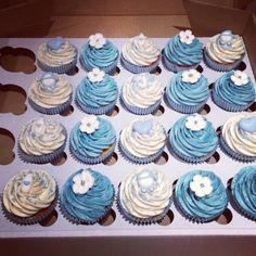 Baby shower boy 2 cupcakes