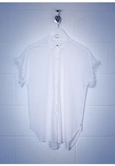Ottod'Ame White Long Line Shirt