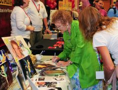 Margaret Kerry signs autographs and chats with fans