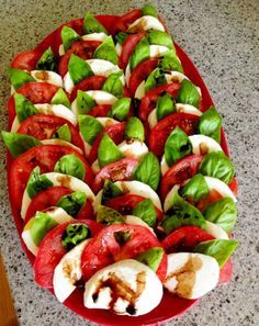 Simple and easy caprese salad recipe perfect for a summer side dish.