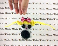 Little May, Mini keychain, Chubbee Doll, Plush Stuffed Creature, Handmade by LondonsKingdom on Etsy
