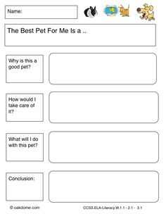 iPad Graphic Organizer - The Best Pet for Me (iPad Pages Template): http://oakdome.com/k5/lesson-plans/iPad-lessons/ipad-common-core-graphic-organizer-opinion-the-best-pet.php