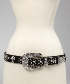 Black Rhinestone Cross Belt!!!