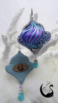 """Lo Scrigno dei Gioielli: """"Florencia"""" Earrings...Bead Embroidery and Shibori"""
