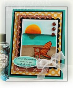 Sunny Day at the beach by Beate - Cards and Paper Crafts at Splitcoaststampers