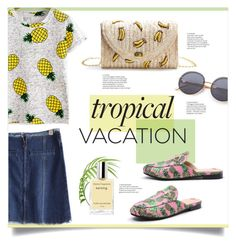 """Tropical Vacation"" by mahafromkailash ❤ liked on Polyvore featuring Summer, Spring, vacation, pineapple and shein"