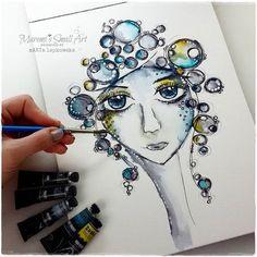 Marta Lapkowska: Beginners Watercolor Tutorials ! #MaremiSmallArt