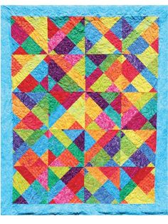 """Outside the Box Quilt Pattern shows you how to cut your fabric so efficiently, it comes together surprisingly easy. It uses layer cake 10""""squares of fabric"""