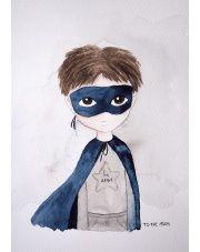 Plakat Superhero - To The Moon