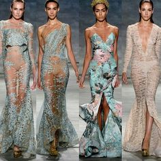 #ShareIG Beautiful gowns by @michaelcostello #nyfw