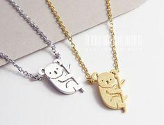 Sweet koala necklace, animal necklace, koala necklace, christmas gift