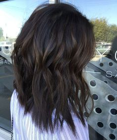 Balayage Black Hair Subtle - Dark Brown Highlights on Black Hair Balayage - Balayage for Black Hair