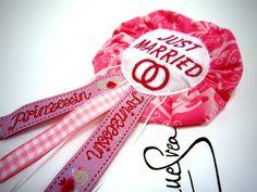 JUST MARRIED wedding Anstecker Hochzeit Button  von Anne Svea auf DaWanda.com