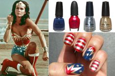 Fourth of july diy nail art.