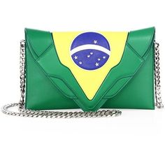Elena Ghisellini Selina Brazilian Leather Crossbody Bag ($940) ❤ liked on Polyvore featuring bags, handbags, shoulder bags, apparel & accessories, crossbody handbag, green leather purse, leather crossbody handbags, leather crossbody purses and genuine leather handbags