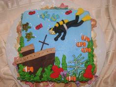 Scuba Diving Cake cakepins.com