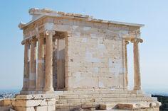 Tempietto di Athena Nike,seconda metà del V sec. a.C.,tempio ionico di marmo pentelico,  pietra squadrata Atene