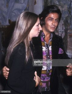 Barbra Streisand and fashion designer Valentino attend Valentino's Fashion Show on September 27, 1970 at the Pierre Hotel in New York City. (Photo by Ron Galella/WireImage)