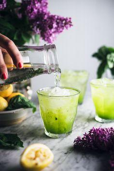Cucumber Basil Sparkling Lemonade — The Broken Bread