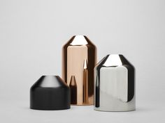 Products we like / Candle Holders / Metal Glossy / Color Range / Conical Shapes / at takeovertime