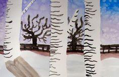 Birch Trees Watercolor Lesson